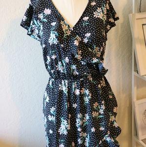 Primark floral ruffle dress